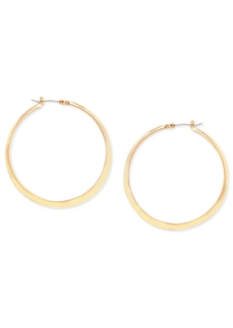 Kenneth Cole New York Gold Textured Hoop Earring