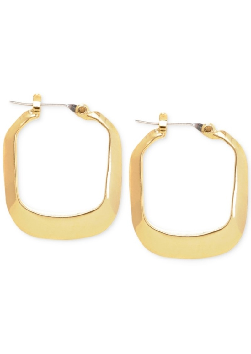 Kenneth Cole New York Small Gold Rectangle Small Hoop Earrings