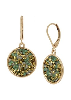 Kenneth Cole New York Gold-Tone Sprinkle Stone Round Drop Earrings