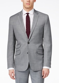 Kenneth Cole New York Grey Sharkskin Extreme Slim-Fit Jacket