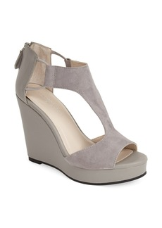 Kenneth Cole New York 'Hayley' Leather Platform Sandal (Women)
