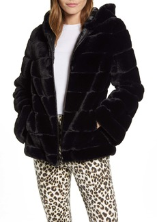 Kenneth Cole New York Hooded Faux Fur Jacket