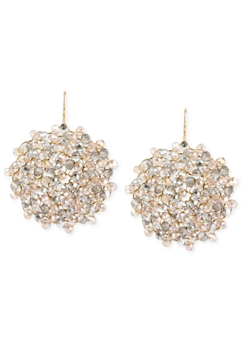 Kenneth Cole New York Topaz Woven Faceted Bead Drop Earring