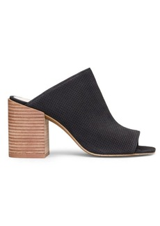 Kenneth Cole New York Karolina 3 Leather Block Heel Mules