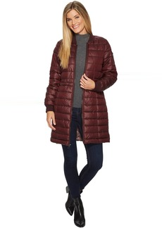 Kenneth Cole Knee Length Packable Bomber Anorak
