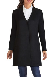 Kenneth Cole New York Knit Sleeve Double Face Wool Blend Coat (Regular & Petite)