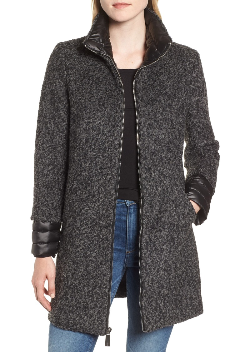 Kenneth Cole New York Layered Bouclé Coat