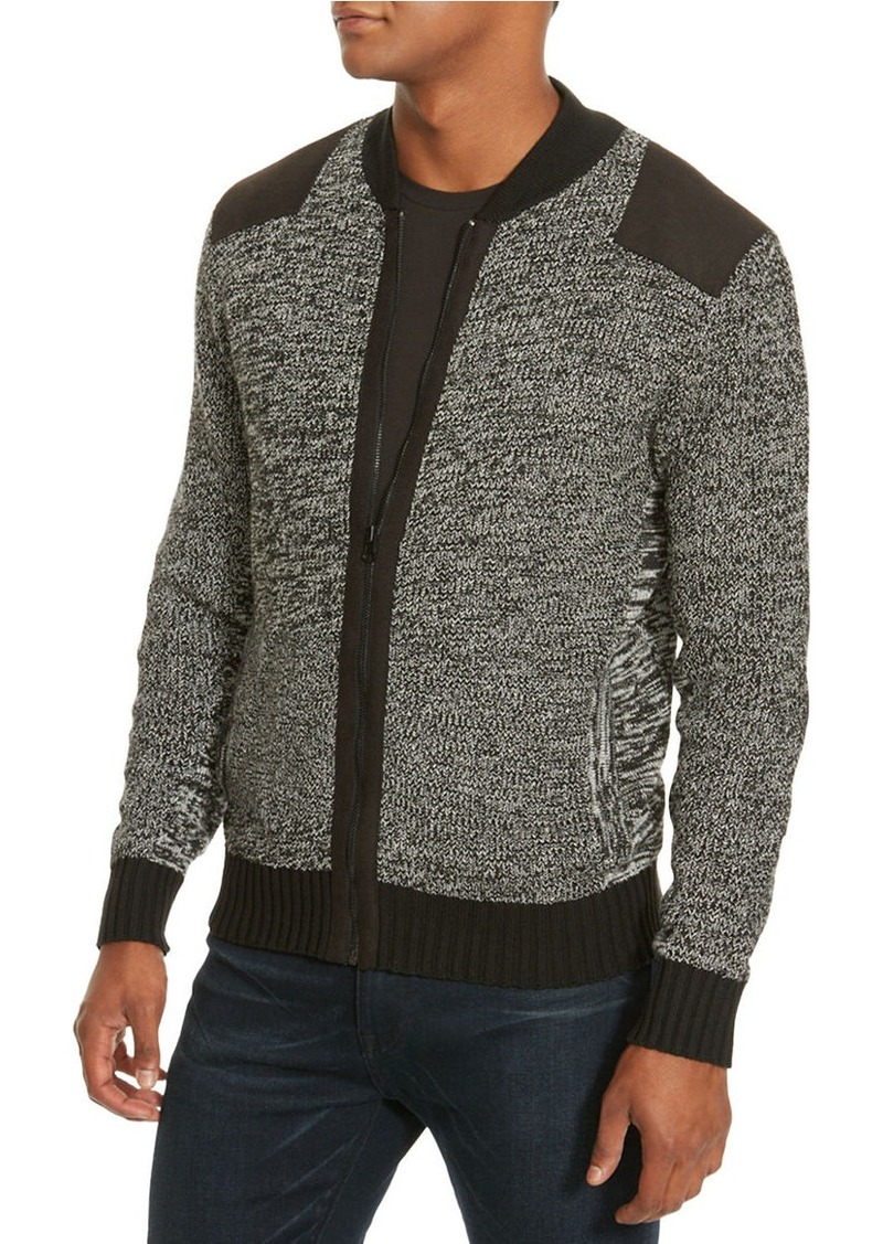 KENNETH COLE NEW YORK Marled Bomber Sweater
