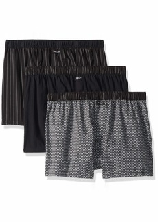 Kenneth Cole New York Men's 3 Pack Woven Boxer pin Stripe/Black Airplane XL