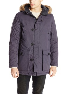 Kenneth Cole New York Men's Anorak with Fur Trimmed Hood