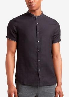 Kenneth Cole Men's Band-Collar Shirt