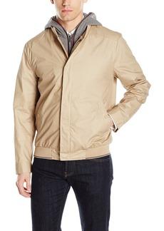 Kenneth Cole New York Men's Baseball Jacket removable hood