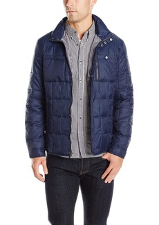 Kenneth Cole New York Men's Box Quilted Faux Down Jacket