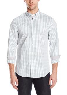 Kenneth Cole New York Men's Button Down Collar Slim Check Shirt