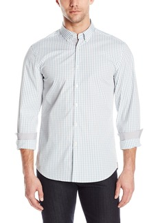 Kenneth Cole New York Men's Button Down Collar Slim Check Shirt