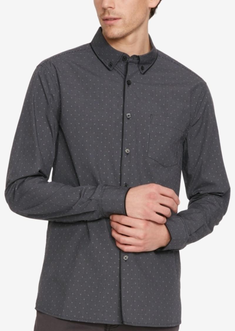 Kenneth Cole New York Men's Check Cross Long-Sleeve Shirt