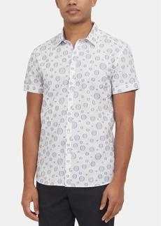 Kenneth Cole New York Men's Circle-Print Short Sleeve Shirt