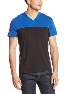 Kenneth Cole New York Men's Colorblock V-Neck Shirt