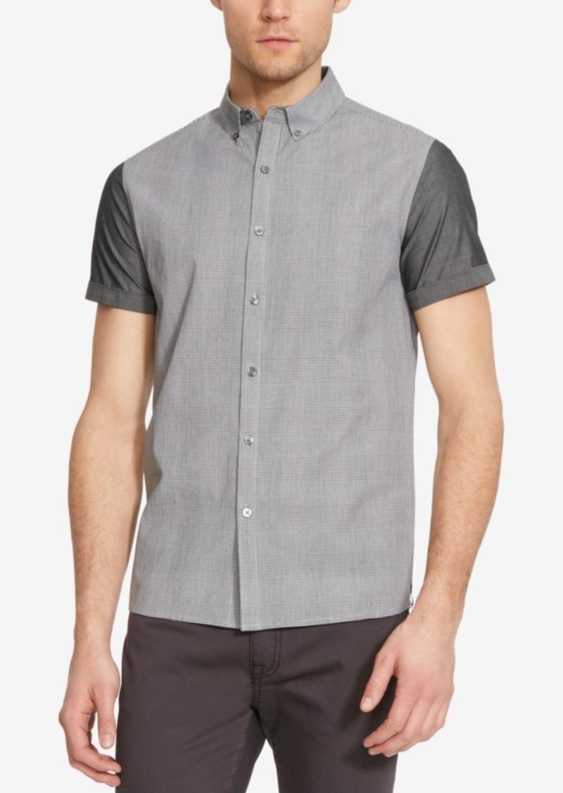 Kenneth Cole New York Men's Colorblocked Plaid Short-Sleeve Shirt