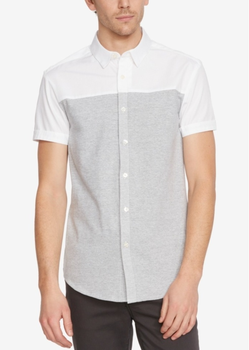 Kenneth Cole New York Men's Colorblocked Short-Sleeve Shirt