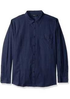 Kenneth Cole New York Men's Crepe Weave Small Check Shirt