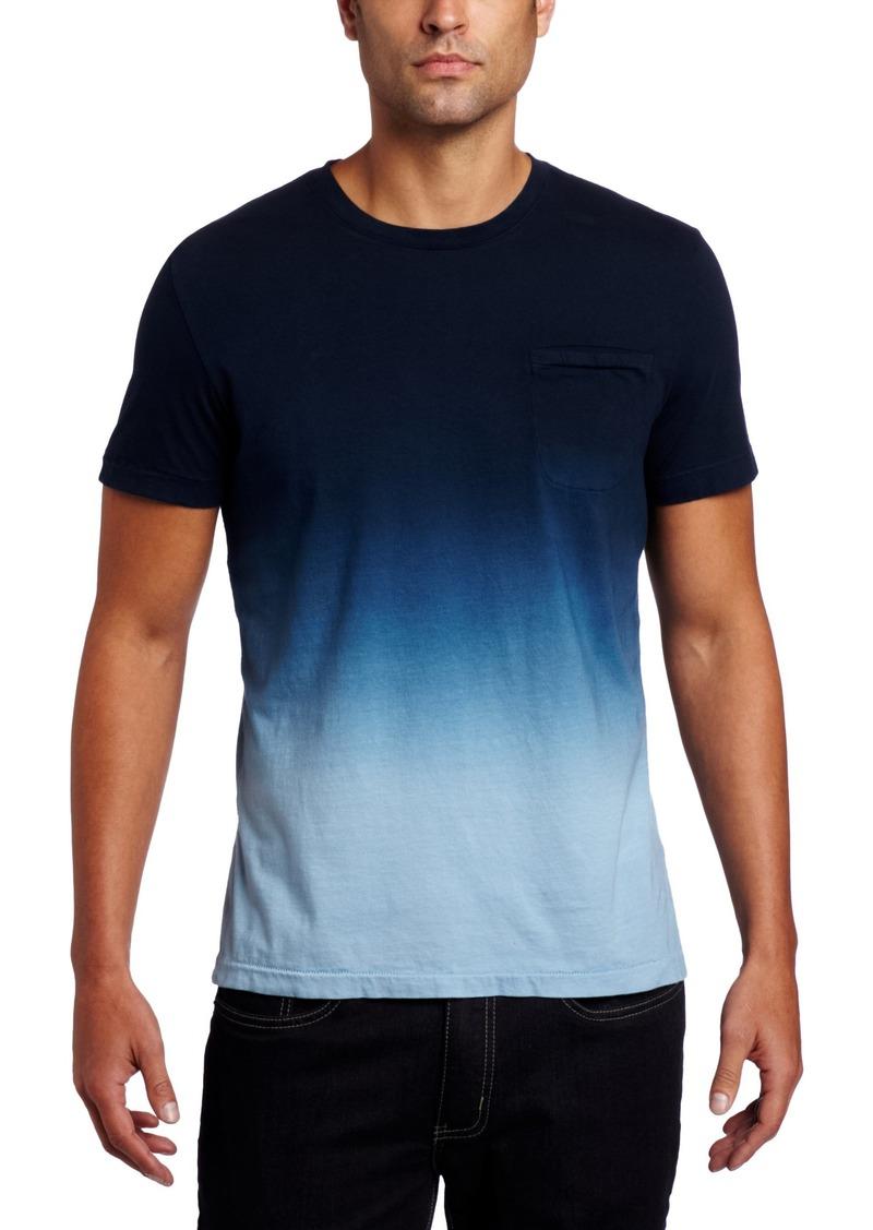 Kenneth Cole New York Men's Dip Dye Crew Neck Knit Shirt