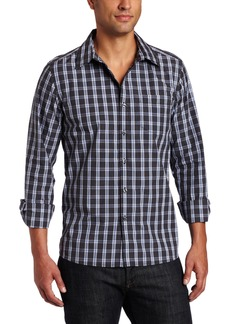 Kenneth Cole New York Men's Dobby Plaid Shirt