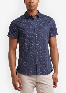Kenneth Cole Men's Dot-Print Pocket Shirt
