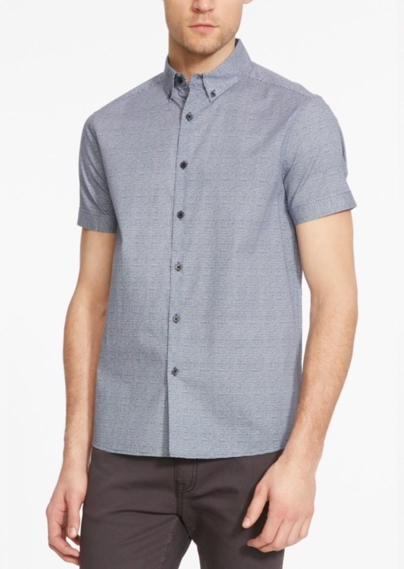 Kenneth Cole New York Men's Dot-Print Short-Sleeve Shirt