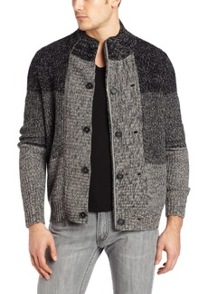 Kenneth Cole New York Men's Double Breasted Full Zip Sweater