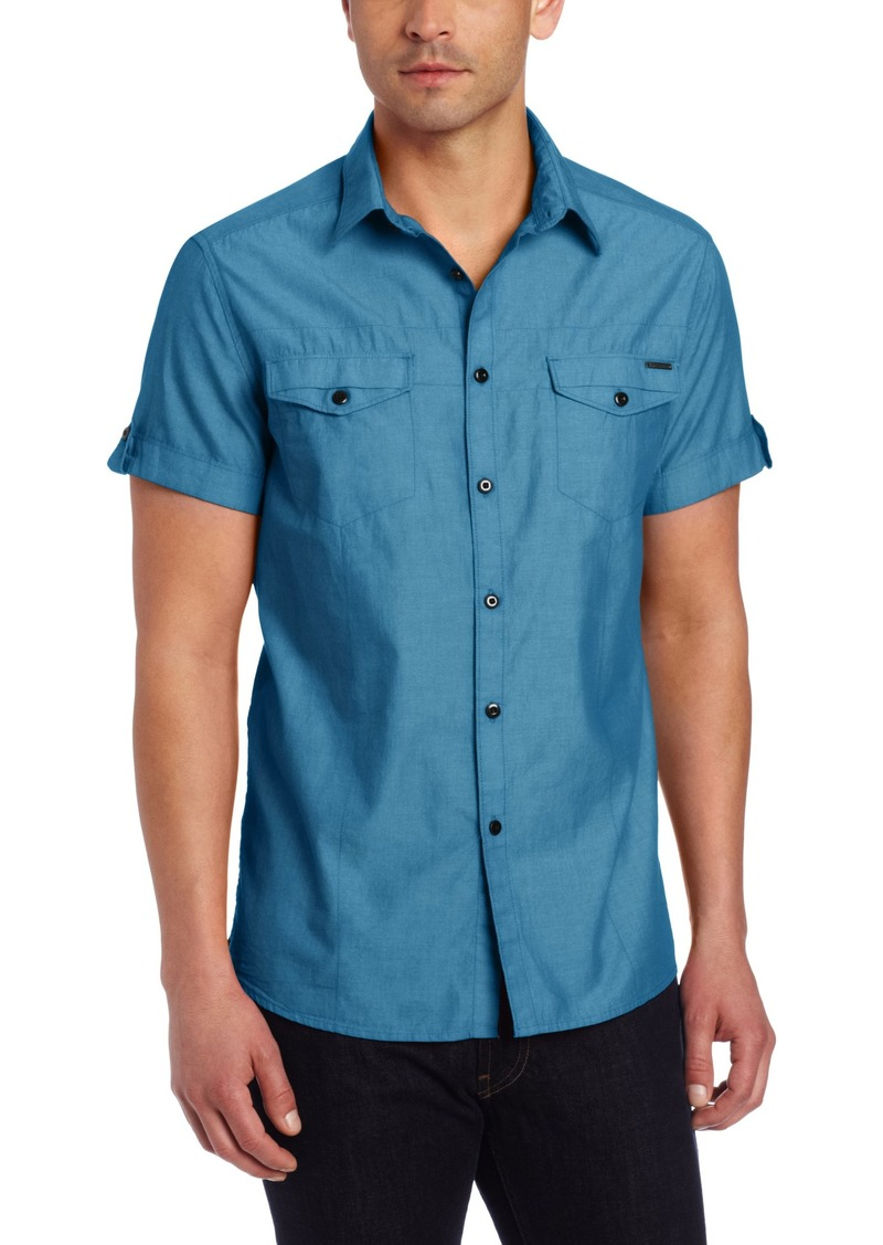 Kenneth Cole New York Men's Double Pocket Chambray Shirt