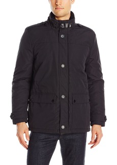 Kenneth Cole New York Men's Down Car Coat with Sherpa Collar