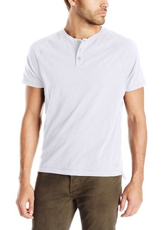Kenneth Cole New York Men's Dressy Slub Henley Shirt  XX-Large