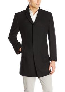 Kenneth Cole New York Men's Elan Wool Top Coat Black  Regular