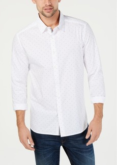 Kenneth Cole New York Men's Flocked Micro-Print Shirt