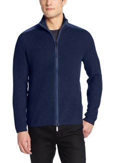 Kenneth Cole New York Men's Full Zip Mock Sweater