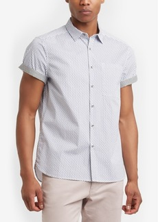 Kenneth Cole New York Men's Geo-Print Pocket Shirt