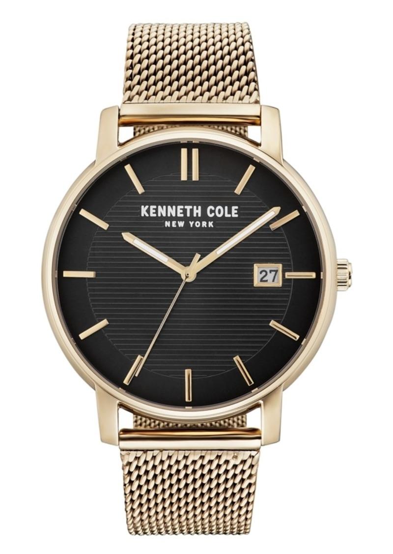 Kenneth Cole New York Men's Gold Mesh Bracelet Watch 42mm