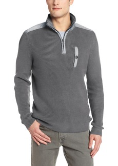Kenneth Cole New York Men's Half Zip Mock Sweater