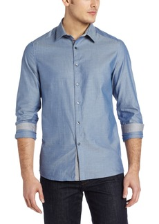 Kenneth Cole New York Men's Herringbone Shirt