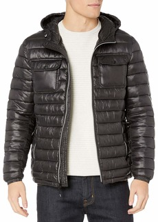 Kenneth Cole New York Men's Hooded Down Alternative Jacket