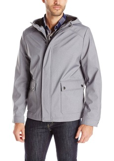 Kenneth Cole New York Men's Hooded Softshell Jacket Grey