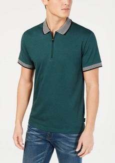 Kenneth Cole New York Men's Interlock Zip Polo
