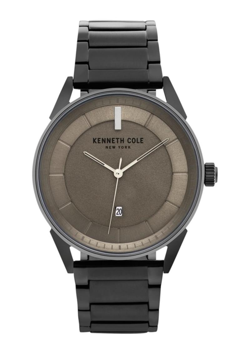 Kenneth Cole New York Men's Kam Stripe Black Bracelet Watch 42mm