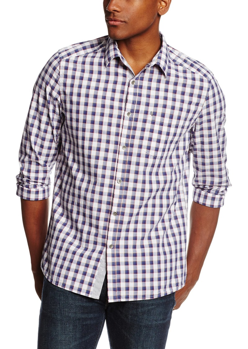 Kenneth Cole New York Men's Kenneth Cole One Pocket Ombre Check Shirt