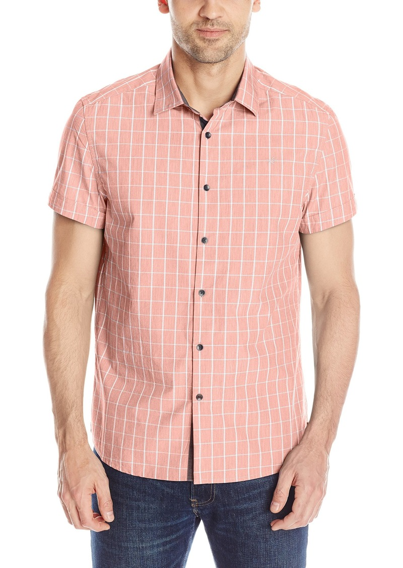 Kenneth Cole New York Men's Kenneth Cole Short-Sleeve Clean-Check Shirt