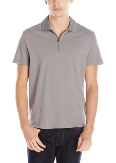 Kenneth Cole New York Men's Kenneth Cole Short-Sleeve Tech Zip-Up Polo