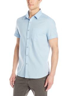 Kenneth Cole New York Men's Lino Short-Sleeve Woven Shirt