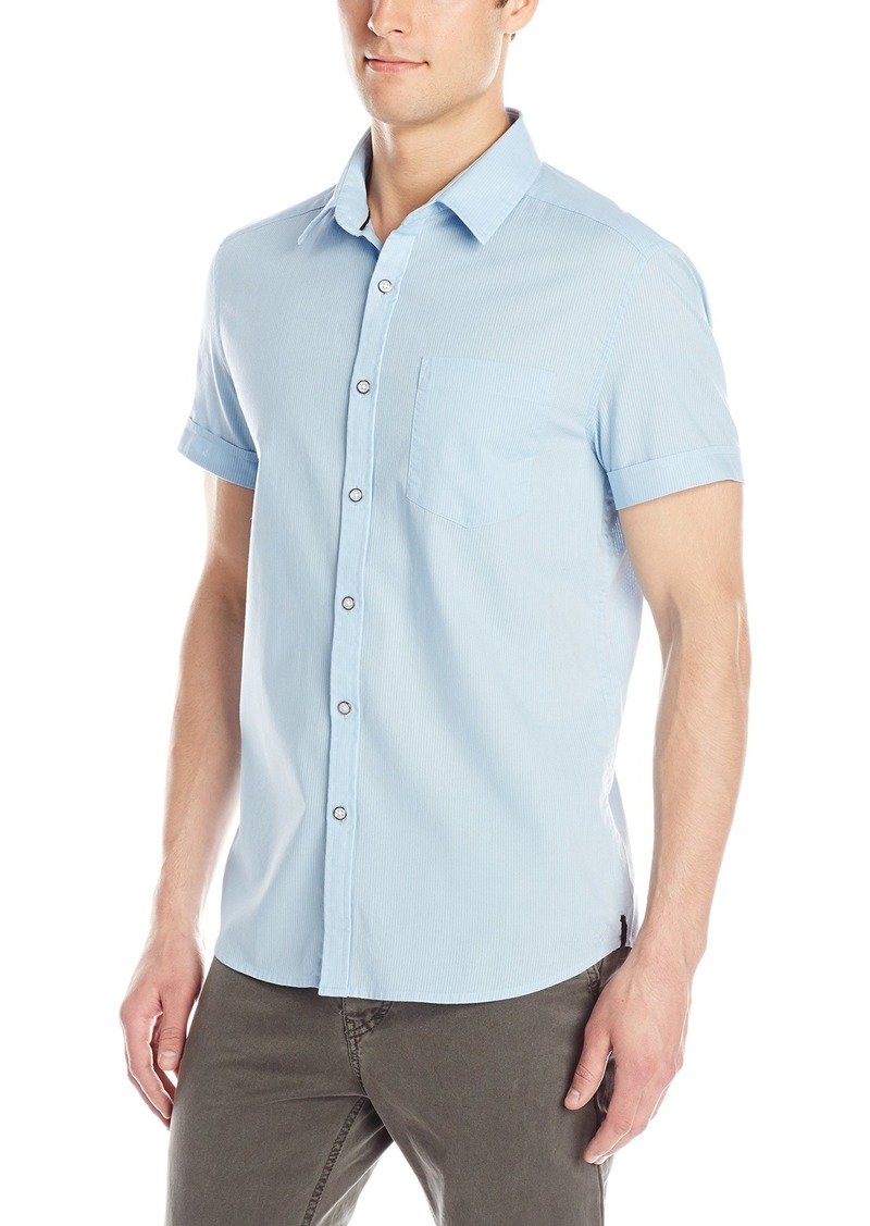 Kenneth Cole New York Men's Lino Short-Sleeve Woven Shirt