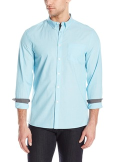 Kenneth Cole New York Men's Long Sleeve Button Down Collar End Shirt